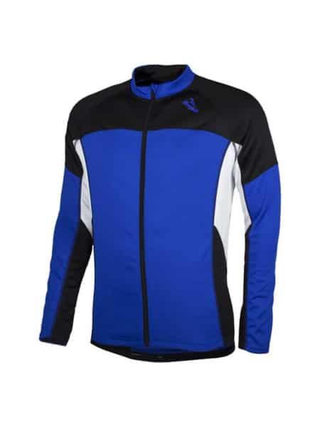 Rogelli Recco wielershirt kids lange mouw blauw wit