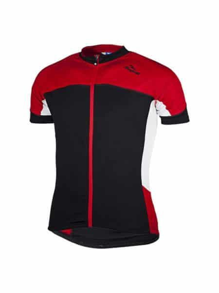 Rogelli Recco kids wielershirt korte mouw rood zwart wit