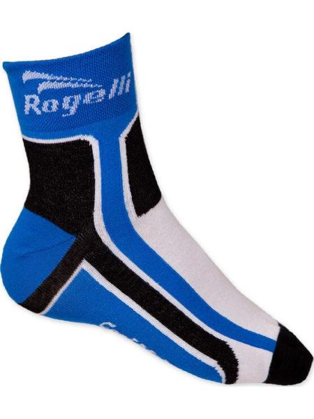 Fietsokken kids Rogelli RCS-03 zomer combinatie blauw wit zwart