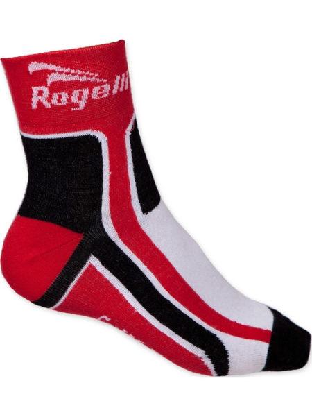 Rogelli RCS-03 wielersok zomer combinatie rood wit zwart