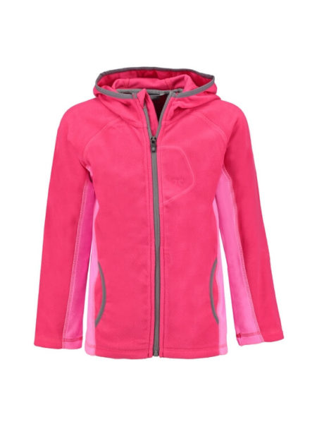 Color Kids roze fleece vest Ramona met capuchon