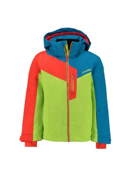 Schöffel groen/blauw/oranje kinder ski jas Tours