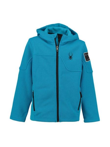Spyder Electric blauw gebreid vest met fleece voering