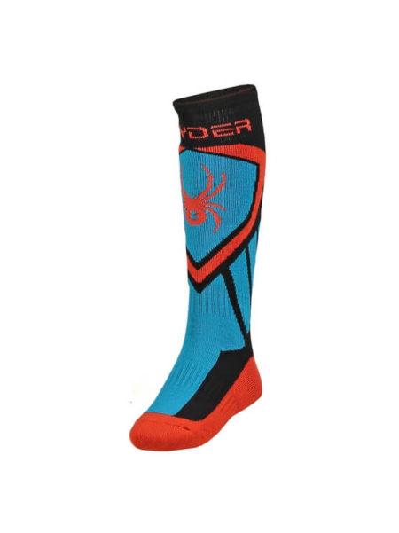 Spyder blauw/oranje/zwarte kinder skisokken