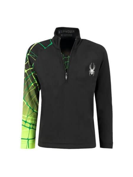 spyder-linear-web-ski-pully-zwart-groen-f