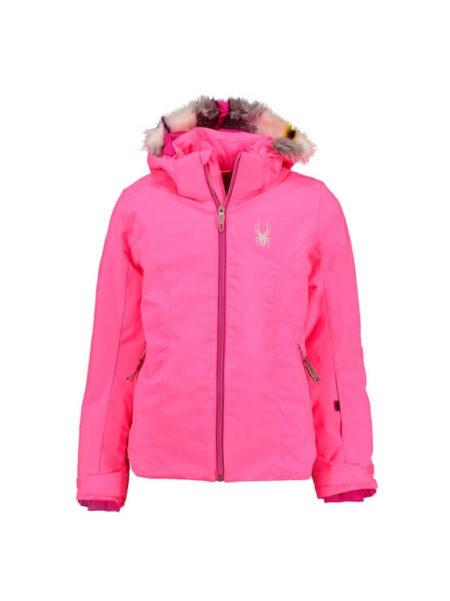 Spyder pink meisjes ski jas  met 5.000mm waterkolom