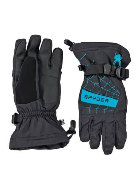 spyder-zwart-blauwe-kinder-ski-handschoenen-overweb