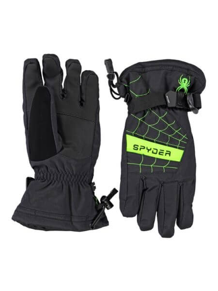 spyder-zwart-groene-kinder-ski-handschoenen-overweb