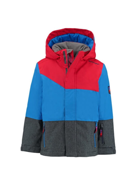 Ziener blauw met rode jongens ski jas Agnolo