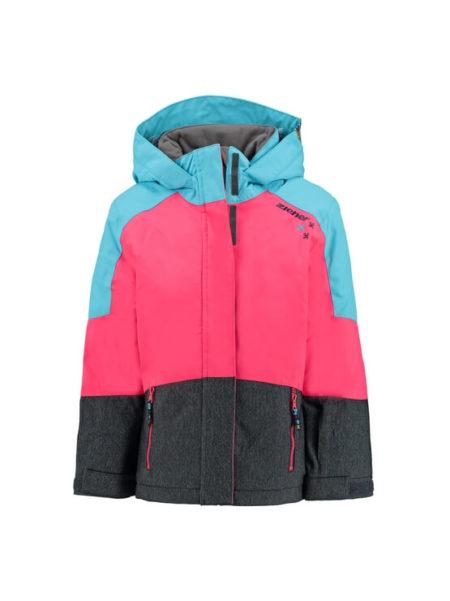 Ziener pink met blauwe meisjes ski jas Ablica