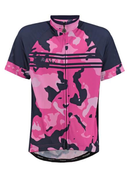 Rogelli camo pink meisjes wielershirt kort f 555