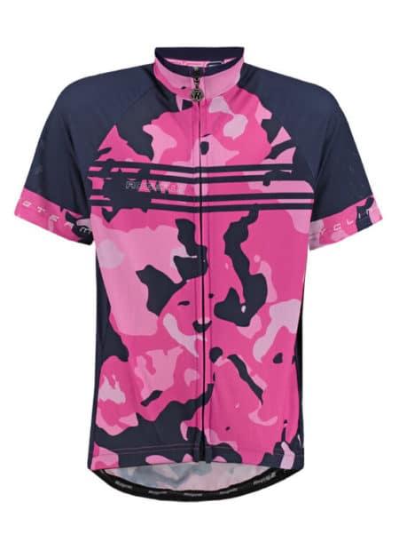 Rogelli Camo pink wielershirt korte mouw