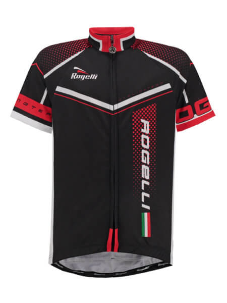 Rogelli gara mostro black red wielershirt kind kort f 555