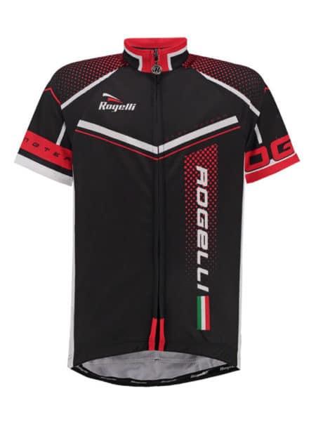 Rogelli Gara Mostro Zwart en Rood wielershirt korte mouw