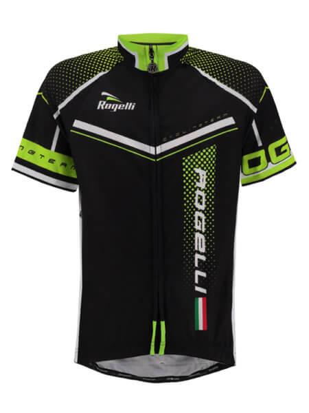 Rogelli gara mostro fluor wielershirt kind kort ff 555