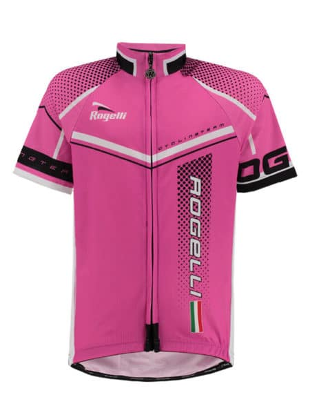 Rogelli Gara Mostro pink wielershirt korte mouw