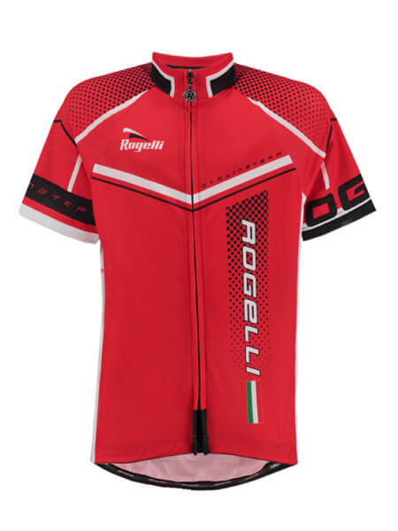 Rogelli gara mostro red bl wielershirt kind kort f 555