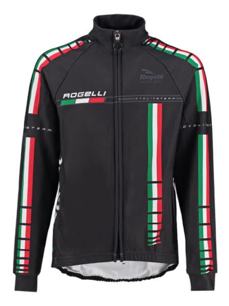 Rogelli Pro team black wielershirt lange mouw voor kids