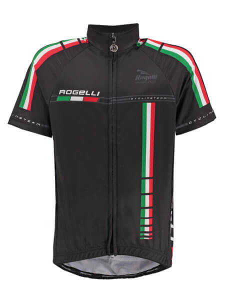 Rogelli team black wielershirt kort f 555