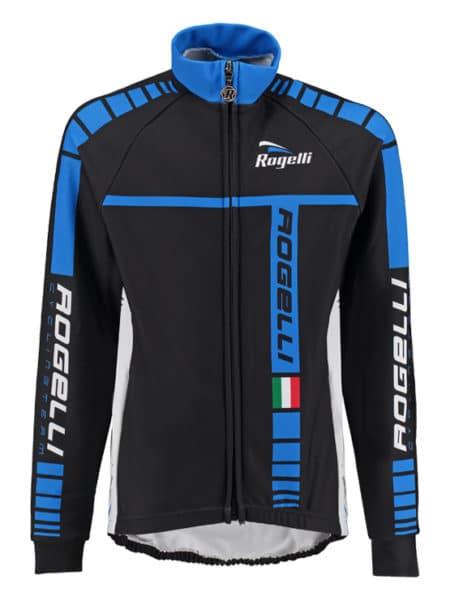 Rogelli Zwart Blauw wielershirt Umbria lange mouw voor kids