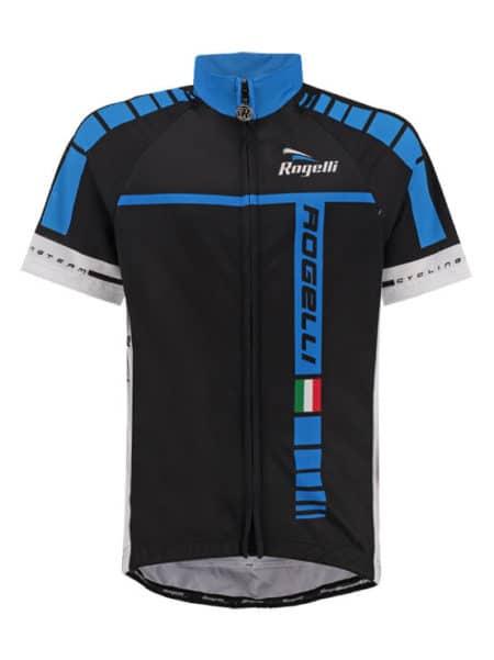 Rogelli Umbria zwart en blauw wielershirt korte mouw
