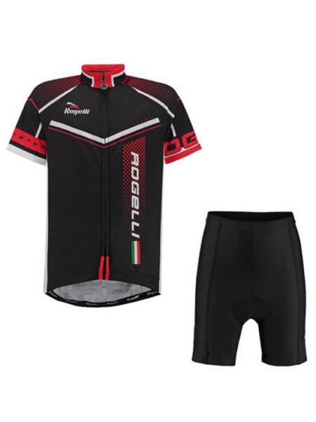 Rogelli fietskleding set Gara mostro Zwart Rood