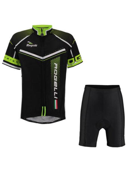 Rogelli fietskleding set Gara mostro Zwart fluor