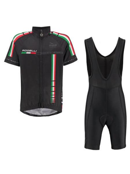 Rogelli fietskleding set wielerbroek bibshort en wielershirt Team pro