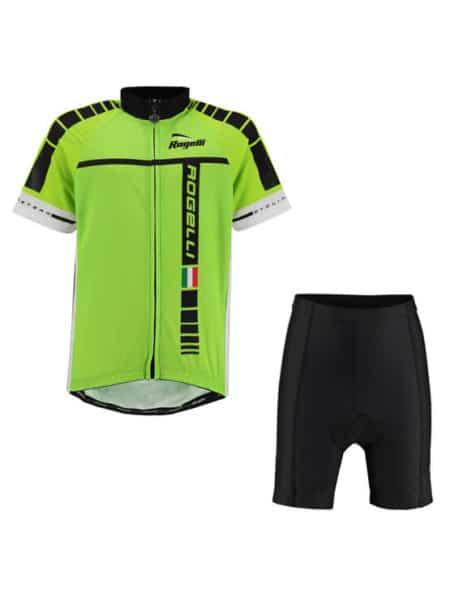 Rogelli fietskleding set Umbria Fluor Geel