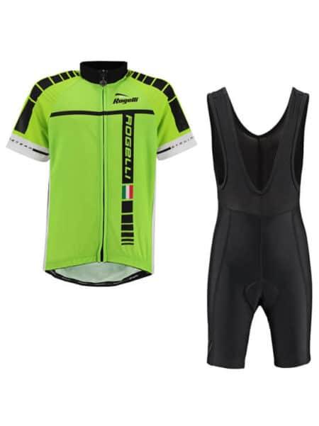Rogelli fietskleding set bibshort en wielershirt Umbria Fluor Geel
