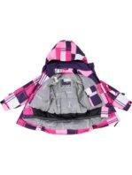 Roze paarse witte lego meisjes ski jas