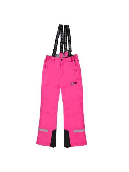 Skibroek meisjes roze Lego voorkant