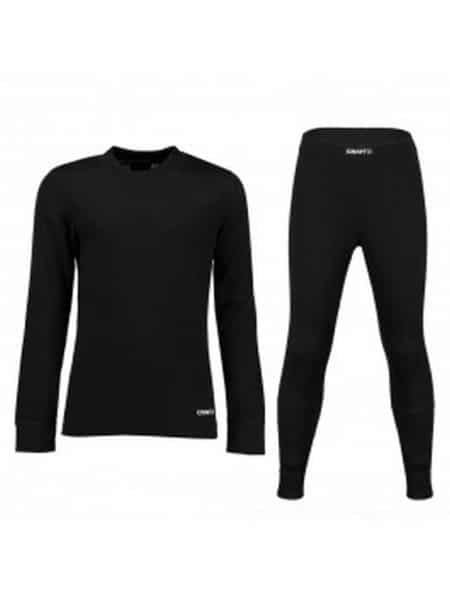 Craft zwart baselayer thermo ondergoed set