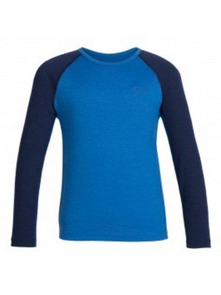 icebreaker blauw-donkerblauw thermo shirt