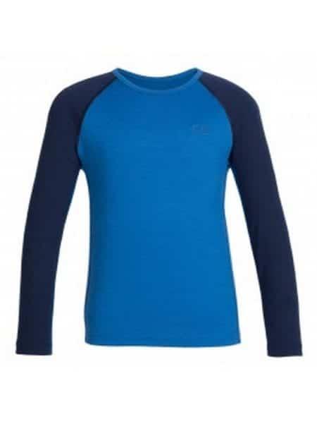 Icebreaker merino wol thermo shirt blauw