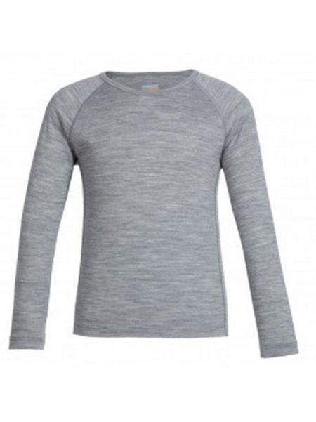 Icebreaker merino wol thermo shirt grijs