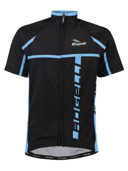 Rogelli wielershirt kids Umbria lichtblauw en zwart wielershirt korte mouw
