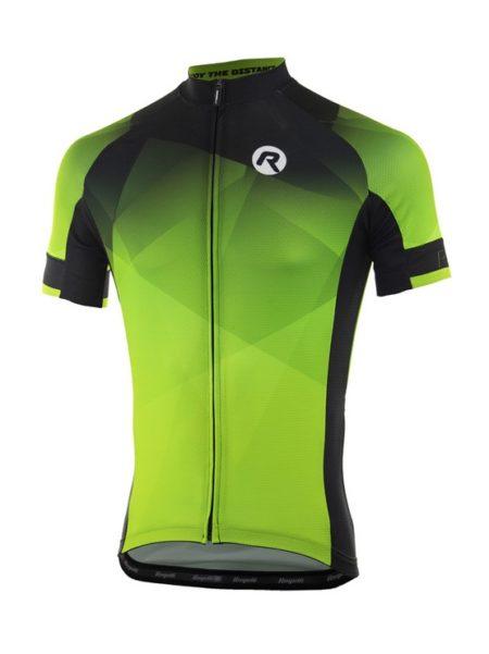 Rogelli Inspirato Fluor/Zwart wielershirt korte mouw