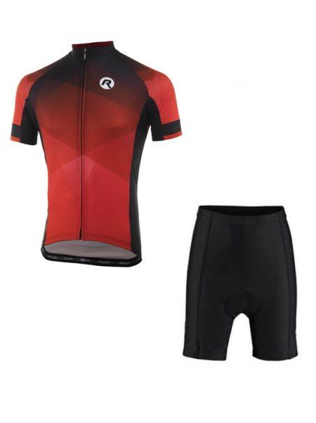 Rogelli fietskleding set Inspirato Zwart Rood